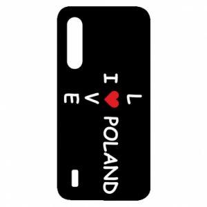 Xiaomi Mi9 Lite Case I love Poland crossword