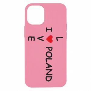 iPhone 12 Mini Case I love Poland crossword