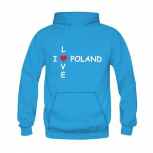 Kid's hoodie I love Poland crossword