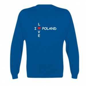Kid's sweatshirt I love Poland crossword