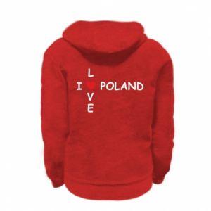 Kid's zipped hoodie % print% I love Poland crossword
