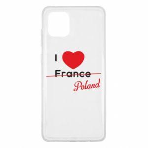 Etui na Samsung Note 10 Lite I love Poland, z sercem