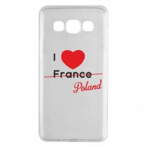 Etui na Samsung A3 2015 I love Poland, z sercem