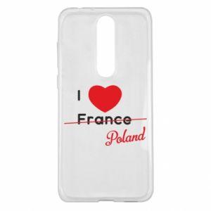 Etui na Nokia 5.1 Plus I love Poland, z sercem