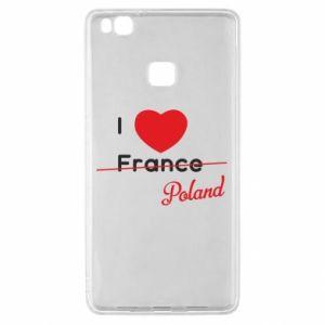 Etui na Huawei P9 Lite I love Poland, z sercem
