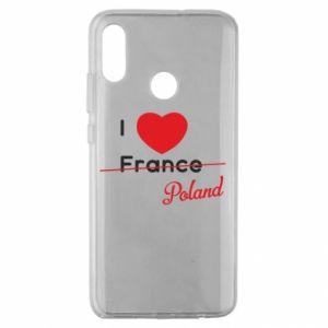 Etui na Huawei Honor 10 Lite I love Poland, z sercem
