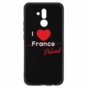 Etui na Huawei Mate 20 Lite I love Poland, z sercem