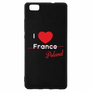 Etui na Huawei P 8 Lite I love Poland, z sercem