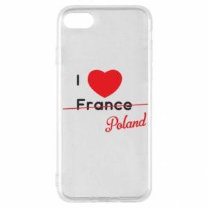 Etui na iPhone SE 2020 I love Poland, z sercem