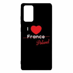 Etui na Samsung Note 20 I love Poland, z sercem