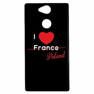 Etui na Sony Xperia XA2 I love Poland, z sercem