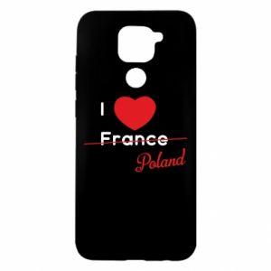 Etui na Xiaomi Redmi Note 9/Redmi 10X I love Poland, z sercem