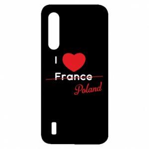 Etui na Xiaomi Mi9 Lite I love Poland, z sercem