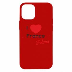 Etui na iPhone 12 Mini I love Poland, z sercem