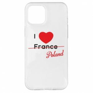 Etui na iPhone 12 Pro Max I love Poland, z sercem