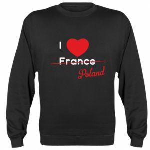 Bluza I love Poland, z sercem