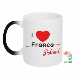 Kubek-magiczny I love Poland, z sercem