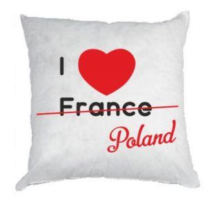 Poduszka I love Poland, z sercem