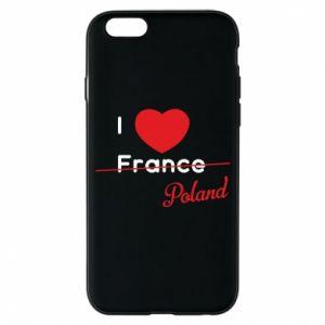 Etui na iPhone 6/6S I love Poland, z sercem
