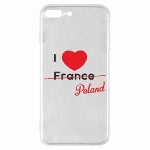 Etui do iPhone 7 Plus I love Poland, z sercem