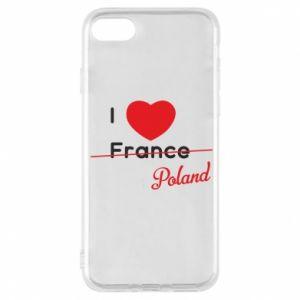 Etui na iPhone 8 I love Poland, z sercem