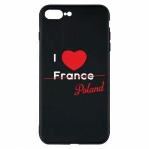 Etui na iPhone 8 Plus I love Poland, z sercem