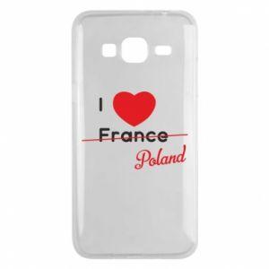 Etui na Samsung J3 2016 I love Poland, z sercem