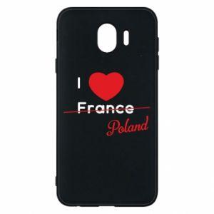 Etui na Samsung J4 I love Poland, z sercem