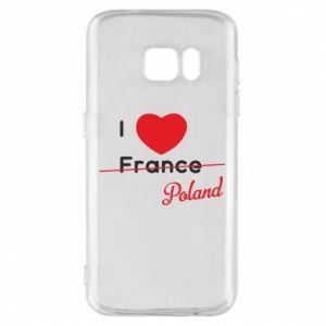 Etui na Samsung S7 I love Poland, z sercem