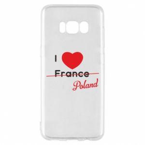 Etui na Samsung S8 I love Poland, z sercem