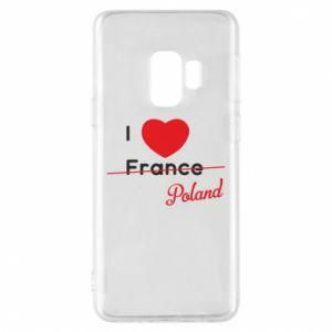Etui na Samsung S9 I love Poland, z sercem