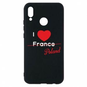 Etui na Huawei P20 Lite I love Poland, z sercem