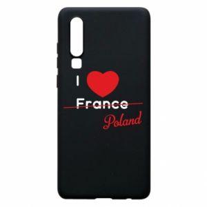 Etui na Huawei P30 I love Poland, z sercem