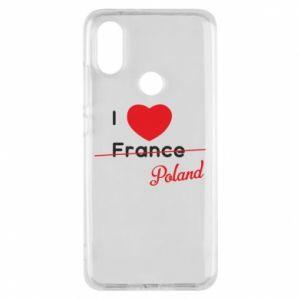 Etui na Xiaomi Mi A2 I love Poland, z sercem