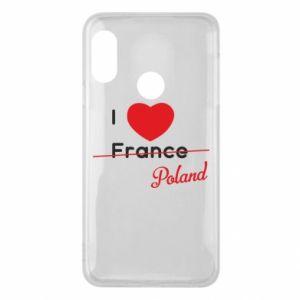 Etui na Mi A2 Lite I love Poland, z sercem