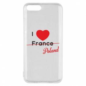 Etui na Xiaomi Mi6 I love Poland, z sercem