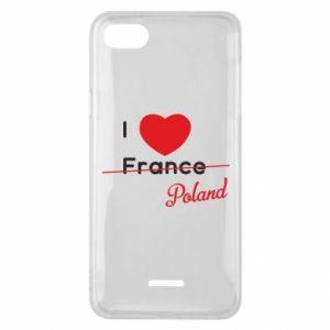 Etui na Xiaomi Redmi 6A I love Poland, z sercem