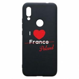 Etui na Xiaomi Redmi 7 I love Poland, z sercem