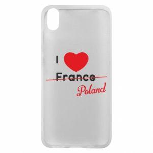 Etui na Xiaomi Redmi 7A I love Poland, z sercem