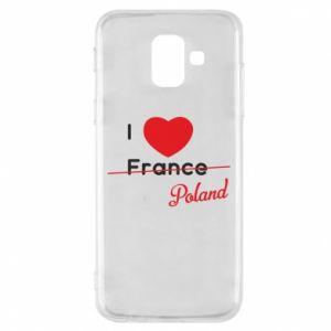 Etui na Samsung A6 2018 I love Poland, z sercem