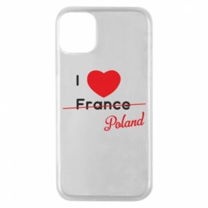 Etui na iPhone 11 Pro I love Poland, z sercem