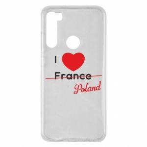 Etui na Xiaomi Redmi Note 8 I love Poland, z sercem
