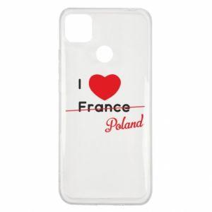 Etui na Xiaomi Redmi 9c I love Poland, z sercem