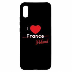 Etui na Xiaomi Redmi 9a I love Poland, z sercem