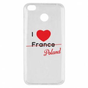 Etui na Xiaomi Redmi 4X I love Poland, z sercem