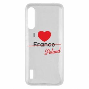Etui na Xiaomi Mi A3 I love Poland, z sercem
