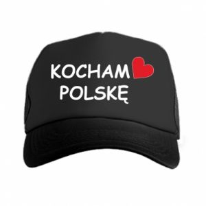 Trucker hat I love Poland - PrintSalon