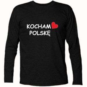 Long Sleeve T-shirt I love Poland - PrintSalon