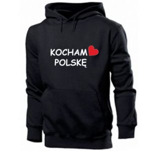 Men's hoodie I love Poland - PrintSalon
