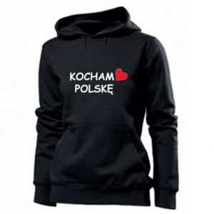 Women's hoodies I love Poland - PrintSalon